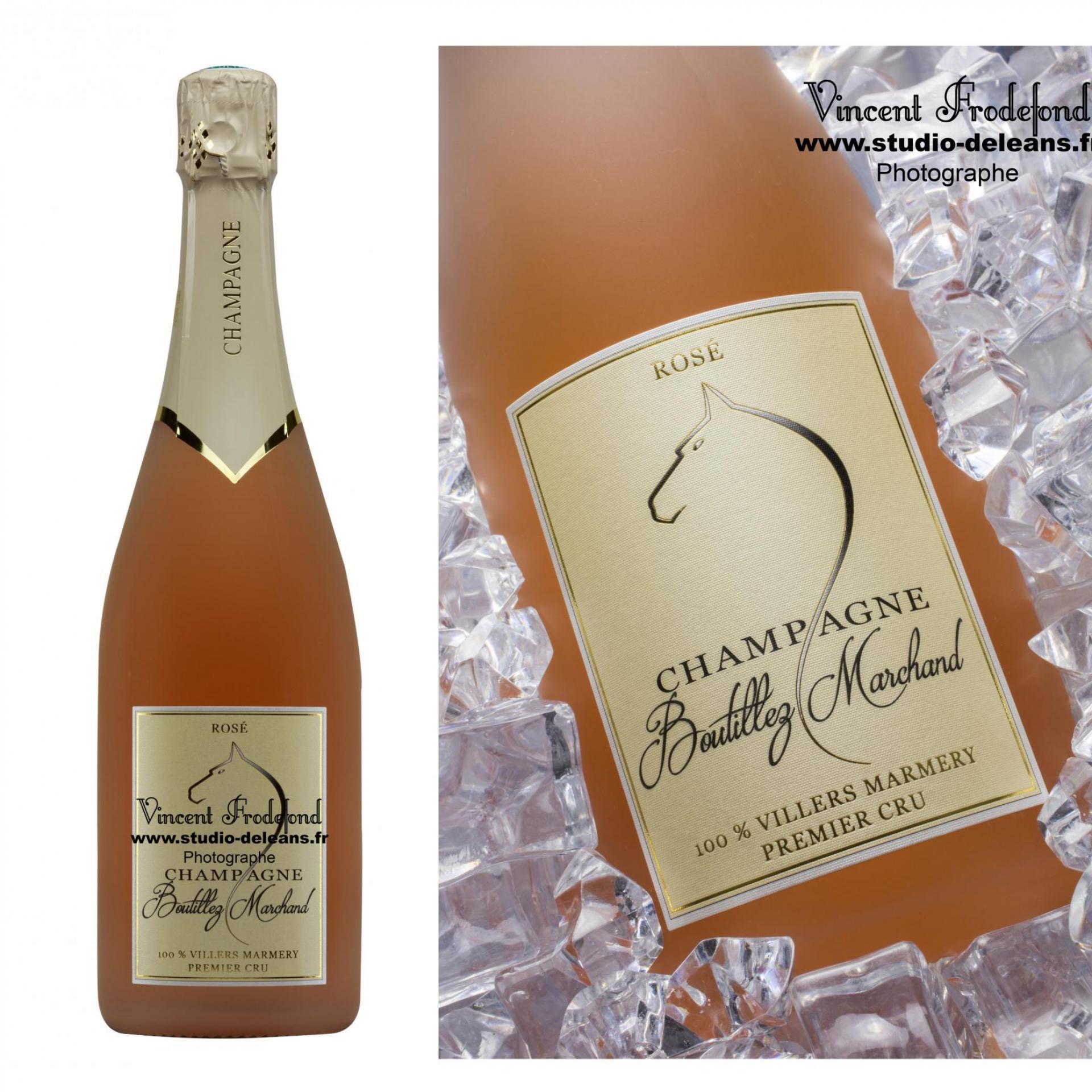 Champagne boutillez rose